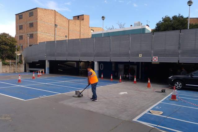 Comencen els treballs de millora al pàrquing municipal de l'avinguda de Catalunya de Tàrrega