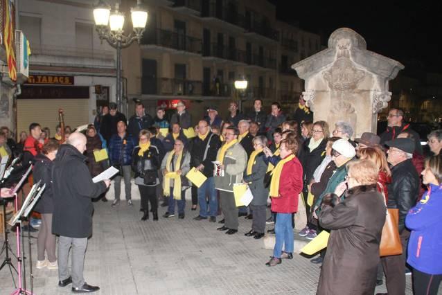 Concentració per reclamar la llibertat de Jordi Sánchez i Jordi Cuixart
