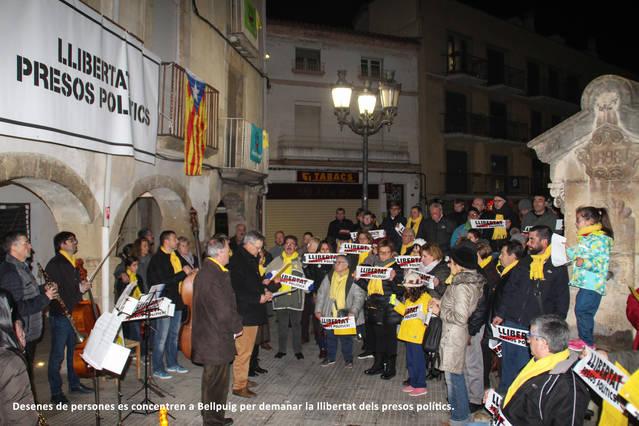 Concentracions a Tàrrega i Bellpuig per exigir la llibertat dels pressos polítics