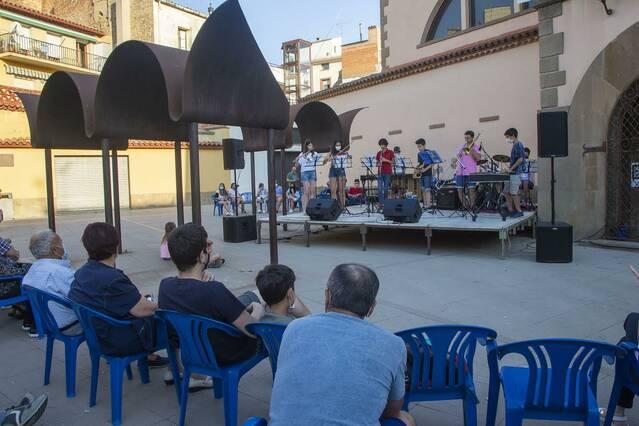 Concert de final de curs de l'Escola de Música d'Agramunt en dos escenaris