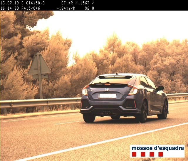 Denuncien penalment un conductor per circular a 184 Km/h per la C-14 a l'Urgell