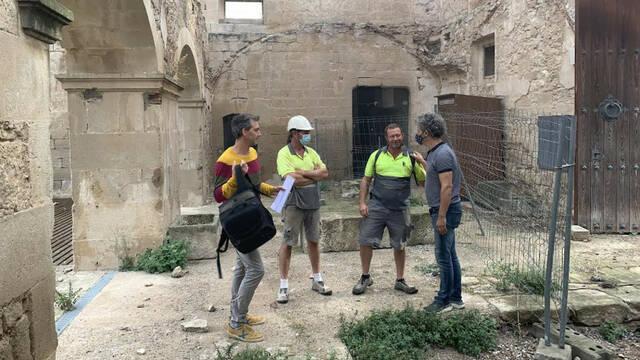 En marxa les obres de consolidació dels murs del castell de Maldà