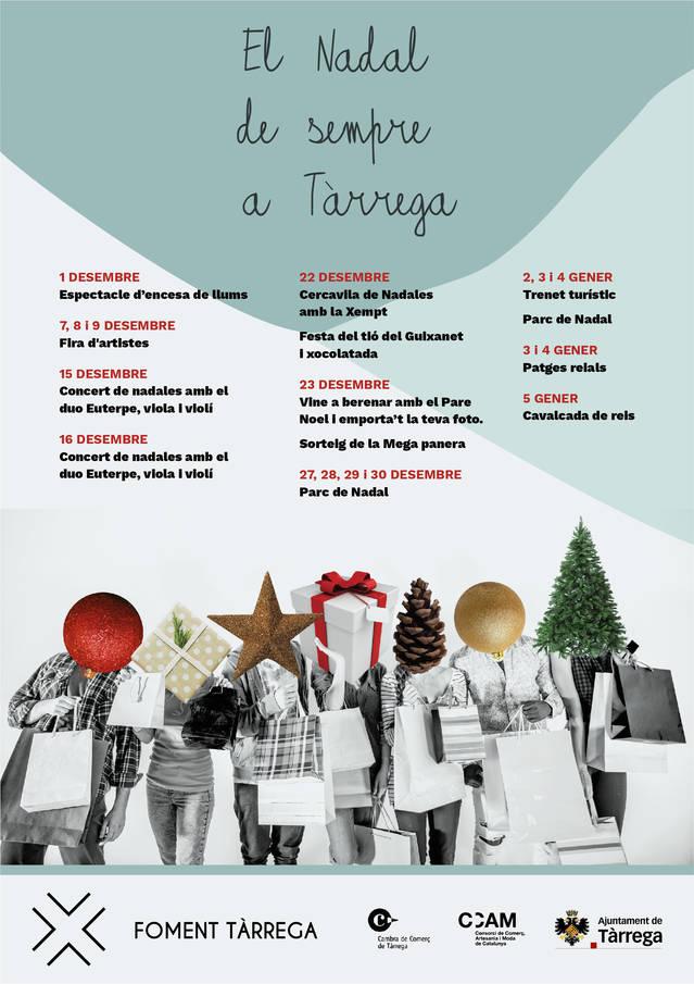 Foment Tàrrega prepara un ample programa d'activitats per aquest Nadal