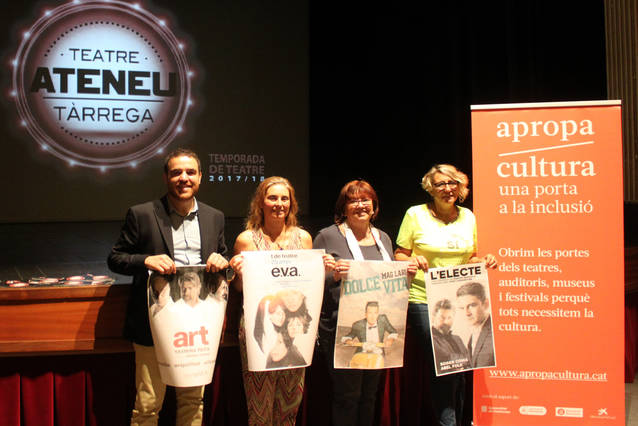 """La comèdia """"Art"""", la sàtira política """"L'electe"""", el Mag Lari o les T de Teatre, a la Temporada de Teatre 2017 – 2018 de Tàrrega"""