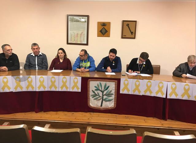 La Fuliola aprova una moció demanant la llibertat dels presos polítcs