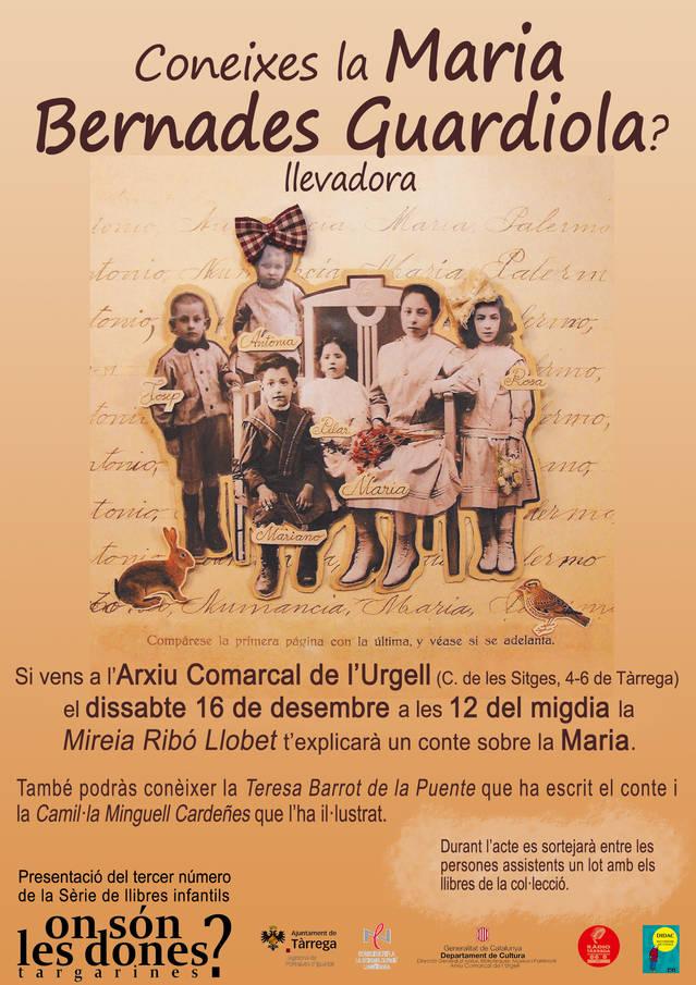 La llevadora targarina Maria Bernades protagonitza un conte infantil que divulga la seva figura