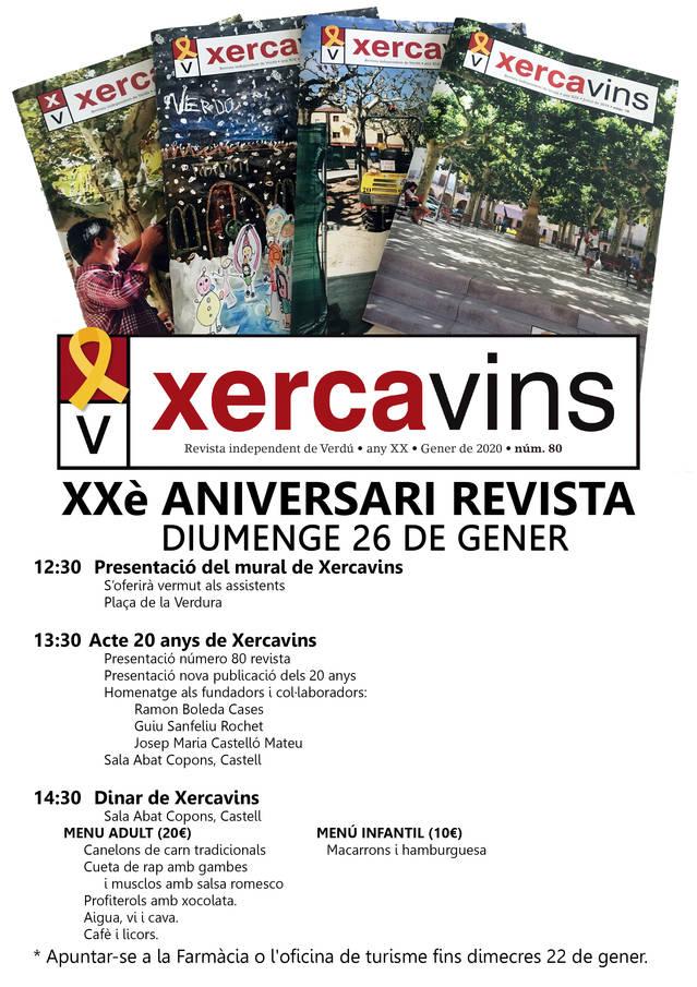 La revista Xercavins de Verdú celebra el seu 20è aniversari amb una jornada d'activitats
