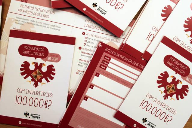 L'Ajuntament de Tàrrega impulsa els seus primers pressupostos participatius