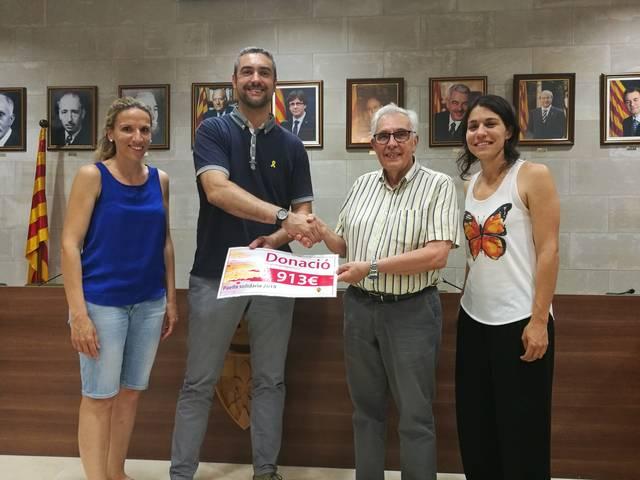 L'Ajuntament d'Agramunt dóna 913 € a Creu Roja