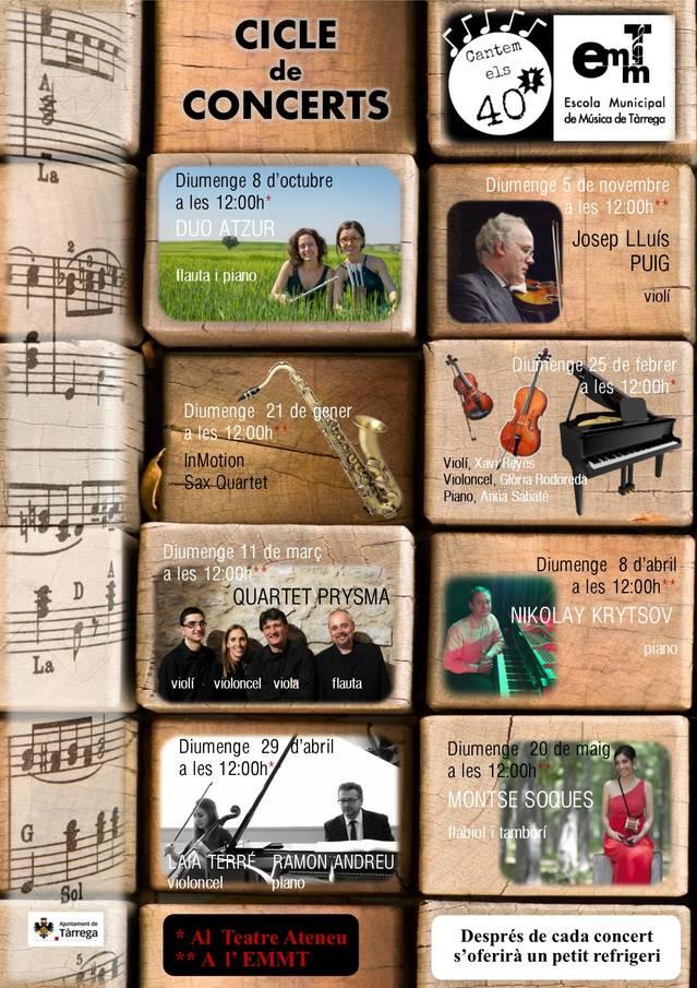 L'Escola Municipal de Música de Tàrrega celebra 40 anys