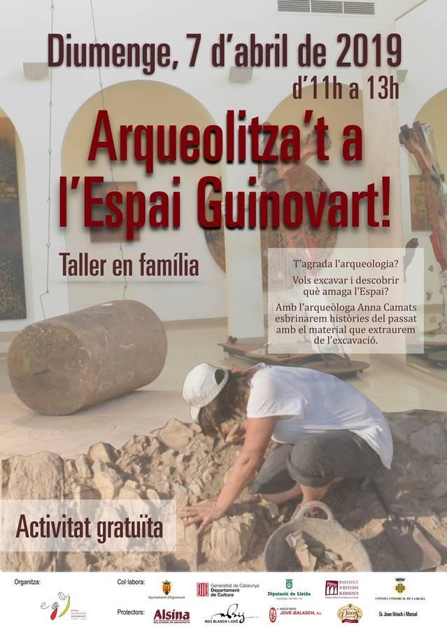 L'Espai Guinovart d'Agramunt ofereix un taller sobre arqueologia aquest diumenge