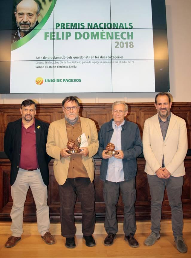 L'Olivera Cooperativa i Martí Boada recullen a l'IEI els Premis Nacionals Felip Domènech Costafreda