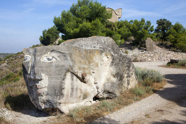 Maldà, referent de les escultures en pedra