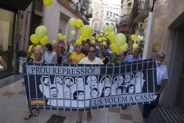 Manifestació a Tàrrega per l'alliberament dels líders sobiranistes