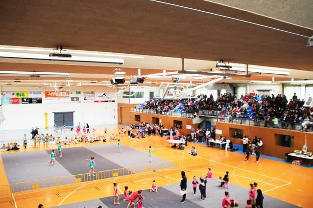 Més de 300 gimnastes participen al V Trofeu de Gimnàstica Rítmica de Bellpuig