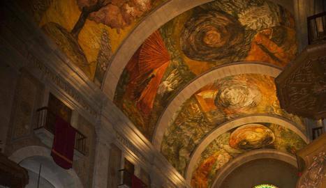 Minguell presenta la crònica sobre els frescos de Tàrrega