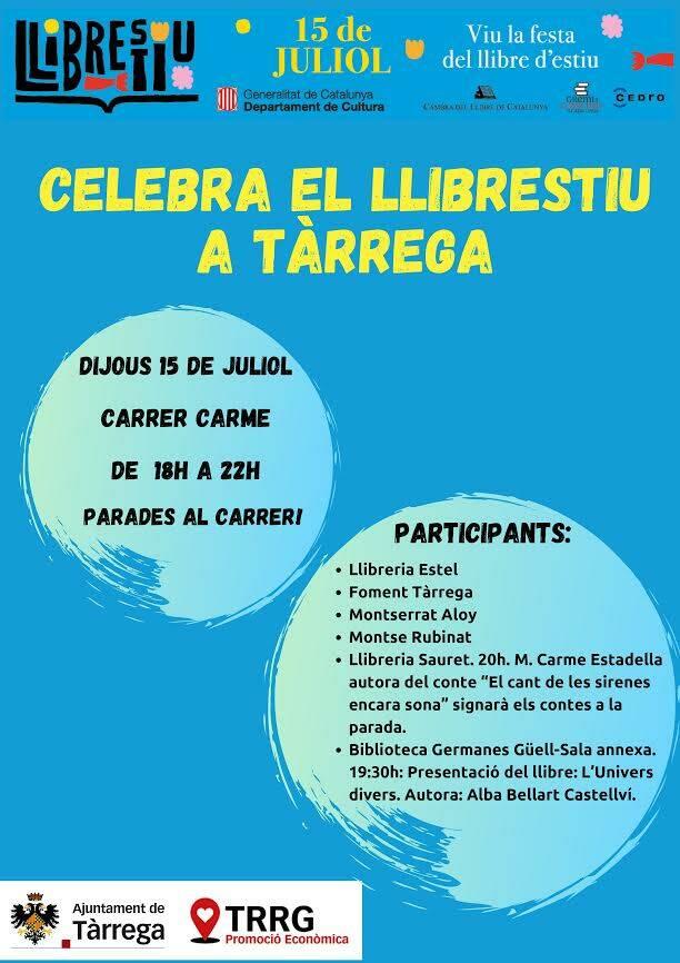Tàrrega celebra la nova festa Llibrestiu el 15 de juliol al carrer del Carme