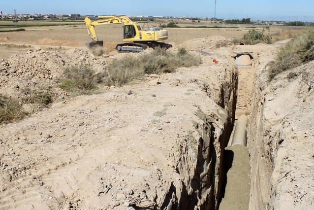 Tàrrega renova el col·lector d'aigües residuals situat al sector nord de la ciutat