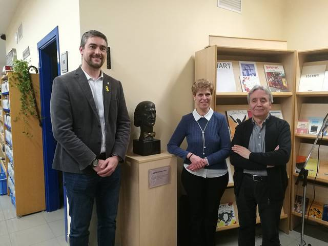 Un bust de Guillem Viladot a la Biblioteca d'Agramunt