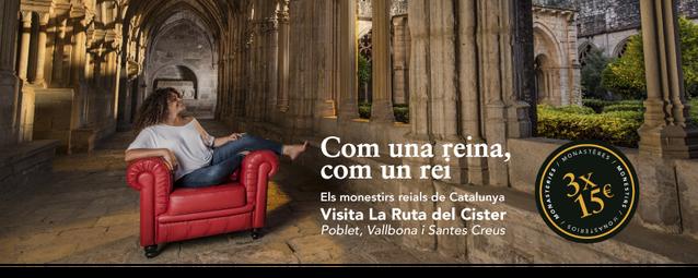 Carnet per promoure la visita conjunta als tres monestirs de la Ruta del Cister