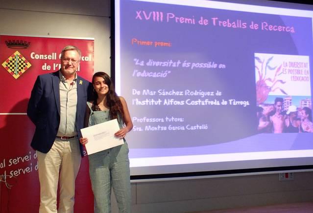 Una alumna de l'Institut Alfons Costafreda guanya el Premi Comarcal de Treballs de Recera de l'Urgell