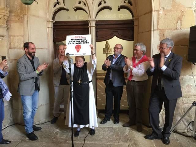 Vallbona de les Monges celebra que el seu monestir és el monument favorit dels catalans