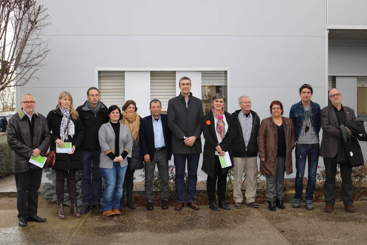 La consellera de Treball, Afers Socials i Famíies, Dolors Bassa visita l'Associació Alba