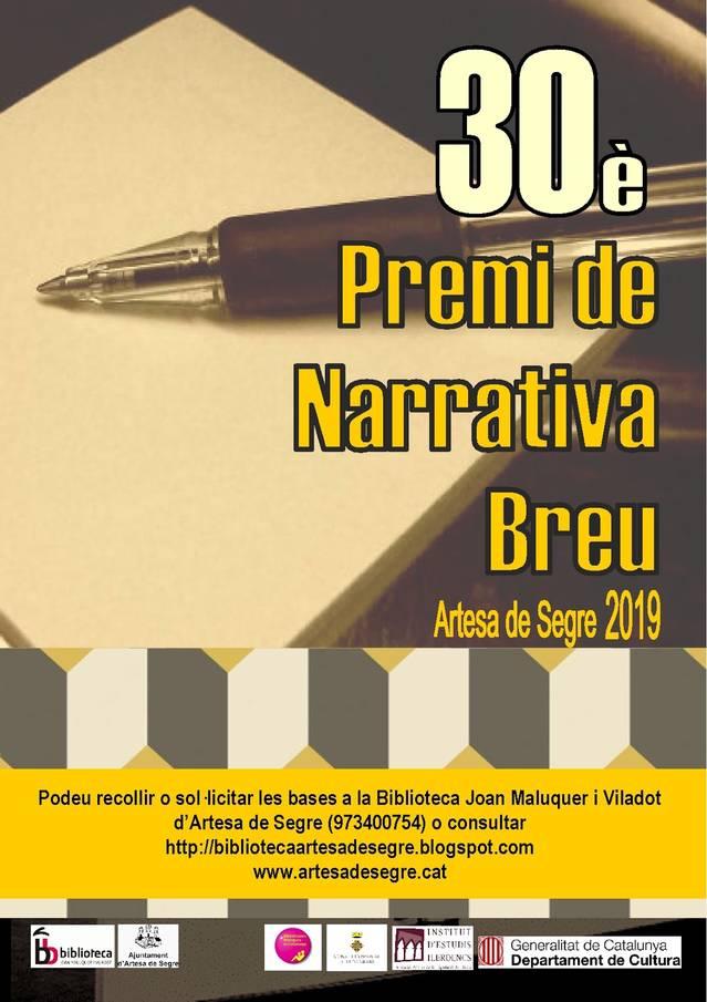 30è Premi de Narrativa Breu a la Biblioteca d'Artesa de Segre
