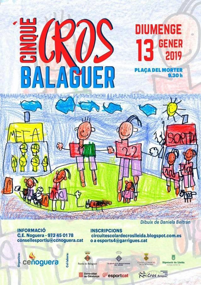 5ª edició del Cros comarcal de Balaguer, el proper 13 de gener