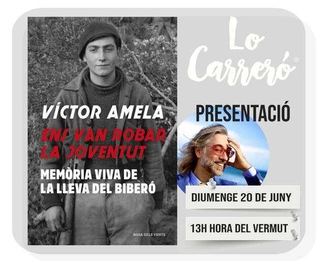 """ Lo Carreró de Montgai presenta el llibre """"ens van robar la Joventut"""" de Víctor Amela"""