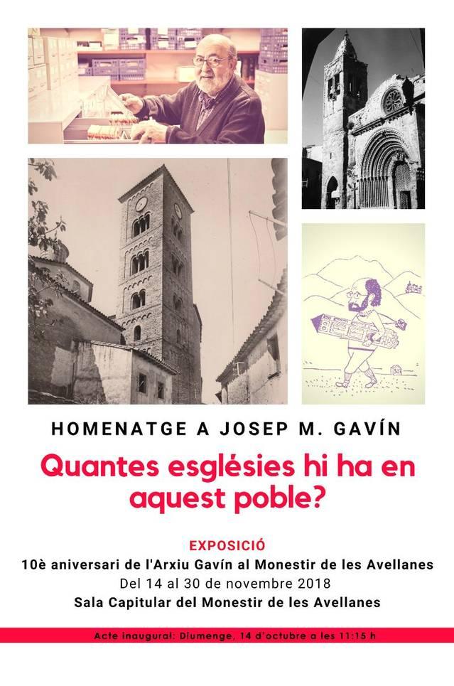 Actes commemoratius del 10è aniversari de l'Arxiu Gavín al Monestir de les Avellanes