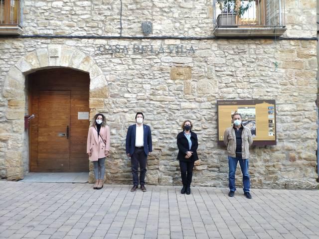 Àger demana col·laboració al Govern de la Generalitat per a convertir el centre en una zona de vianants, millorar atractius turístics i construir pisos de lloguer