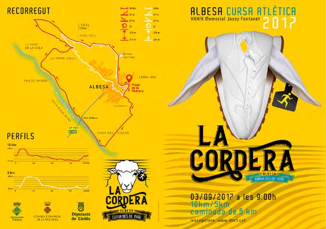 Albesa acull el pròxim 3 de setembre una nova edició de la Cursa de la Cordera, la més antiga de Catalunya