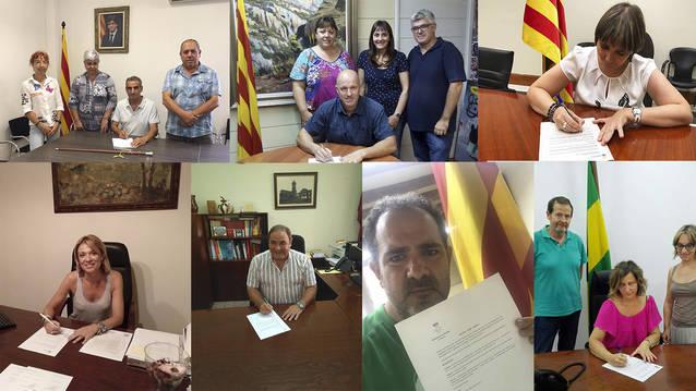 Alcaldes de la Noguera signen el decret de suport al referèndum