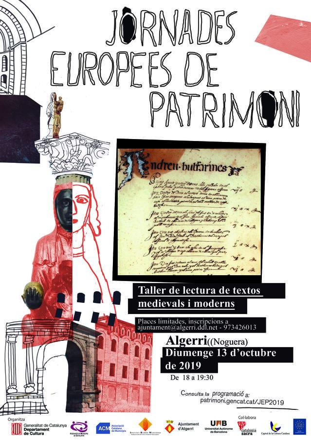 Algerri es suma a les Jornades Europees de Patrimoni Cultural