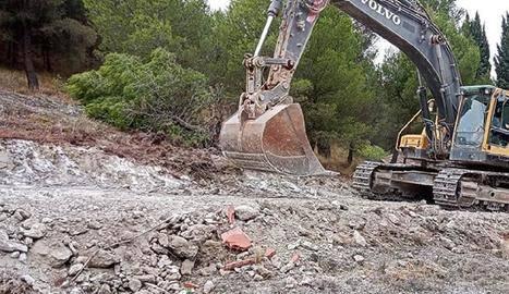 Algerri millora l'accés al camí del castell per a les obres