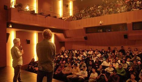 Alumnes de Lleida i Balaguer, a la primera sessió del Som Cinema