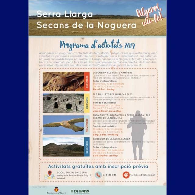 Arranca un nou Programa d'activitats de descoberta de la Serra Llarga-Secans de la Noguera