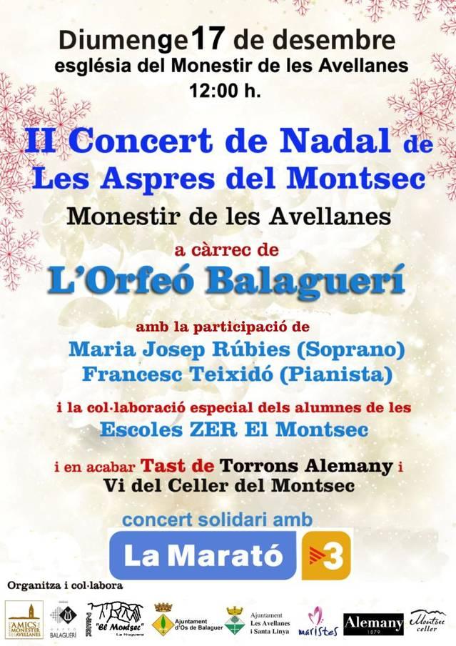 Arriba el II Concert de Nadal de Les Aspres del Montsec al Monestir de les Avellanes