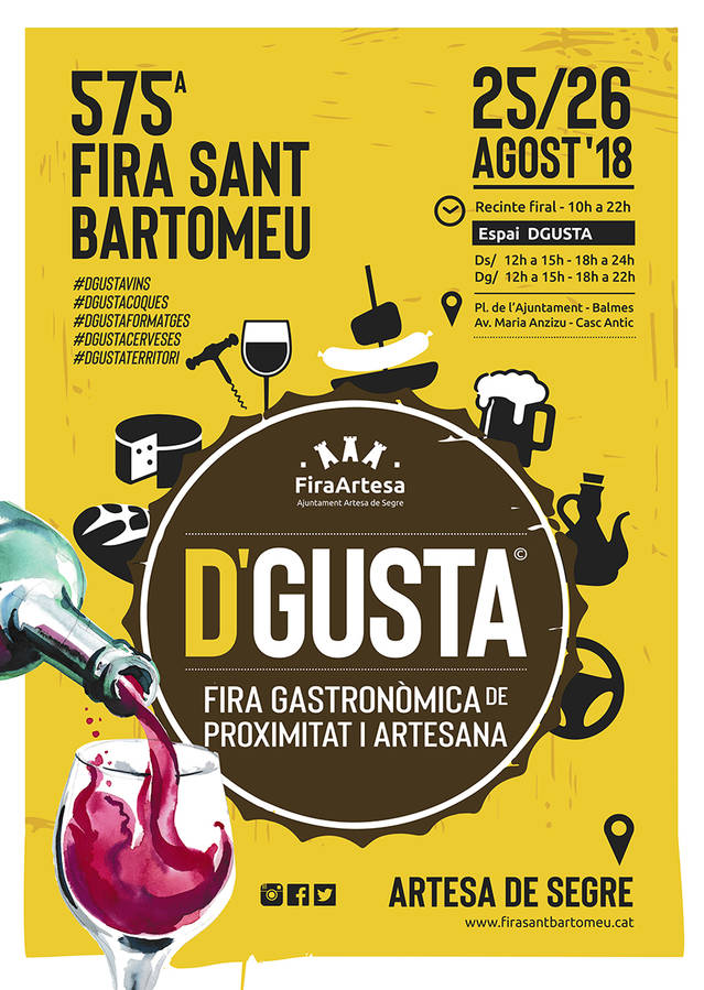 Artesa de Segre celebrarà la 575a edició de la Fira de Sant Bartomeu