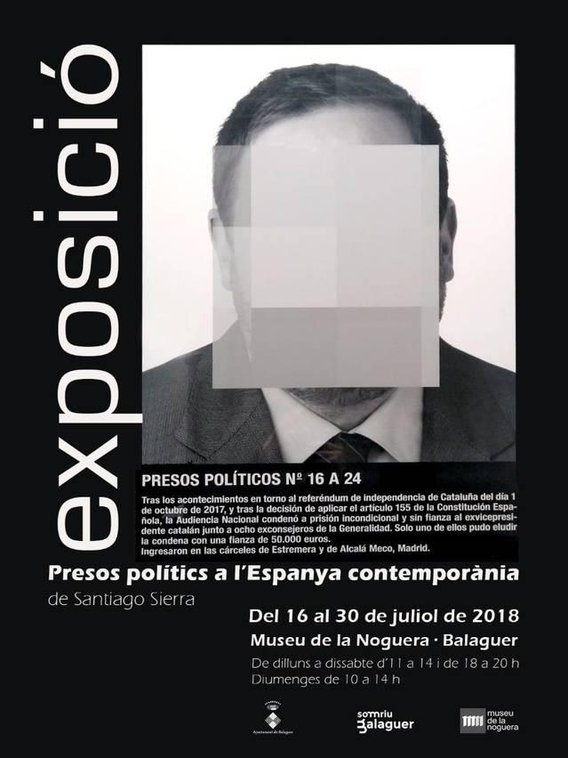 Balaguer acollirà l'exposició: 'Presos polítics a l' Espanya contemporànea'