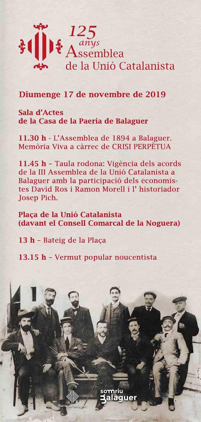 Balaguer bateja amb el nom de Unió Catalanista, la plaça de davant el Consell Comarcal de la Noguera
