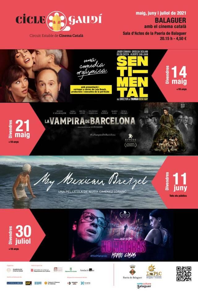 BALAGUER continua apostant pel CINEMA CATALÀ a través del CICLE GAUDÍ DE CINEMA