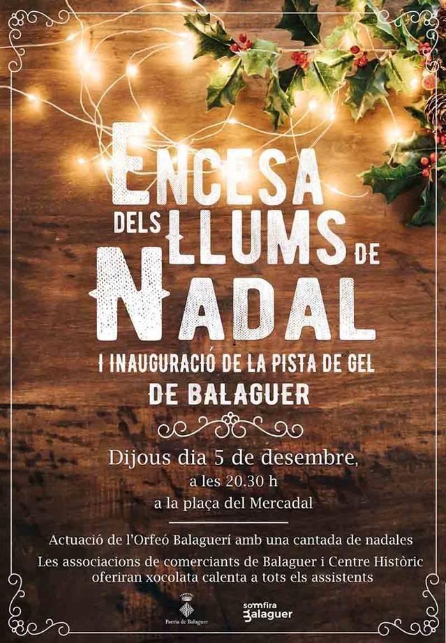Balaguer encendrà les llums de Nadal aquest dijous