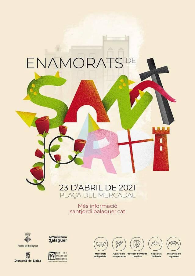 Balaguer prepara un Sant Jordi a prova de Covid a la Plaça Mercadal