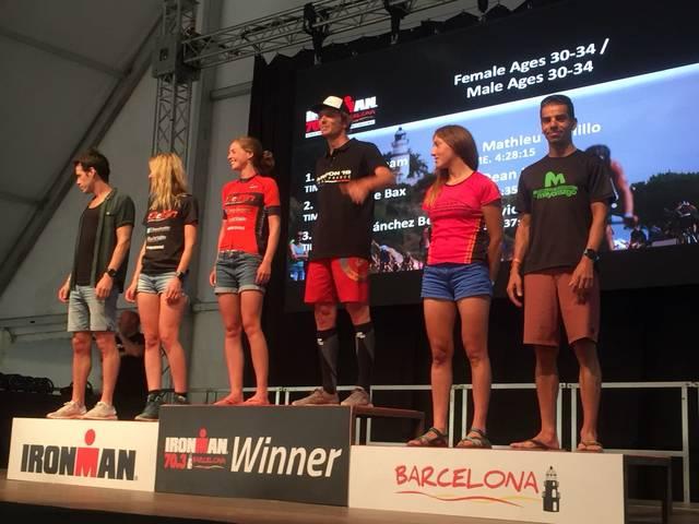 Bon paper de la noguerenca Carolina Sanchez al Ironman 70.3 Barcelona de Calella