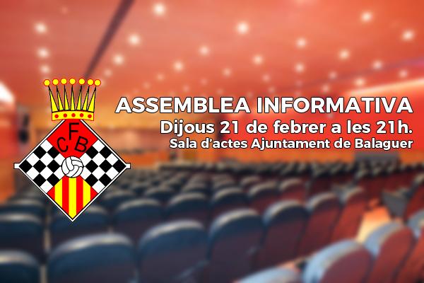 Cancel·lada l'Assamblea Informativa de Socis del CF Balaguer en motiu de la Vaga