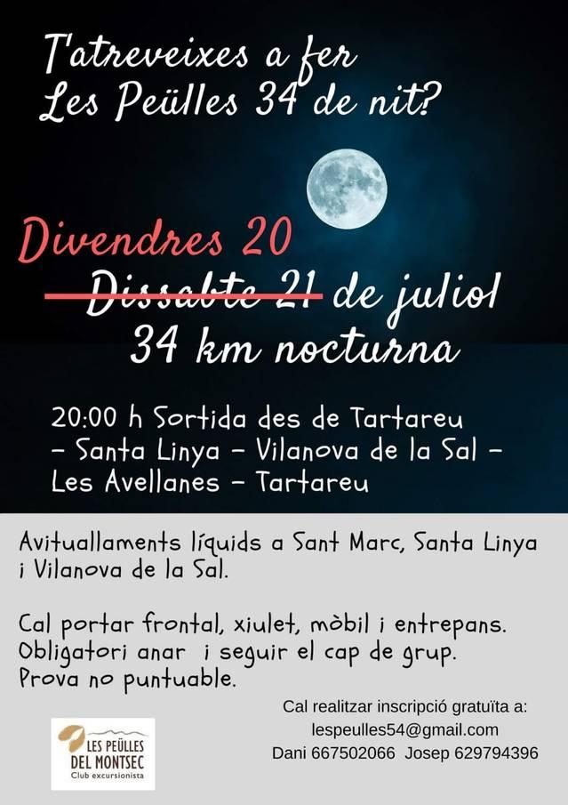 Canvi de data a Les Peülles 34, que es celebrarà finalment aquest divendres