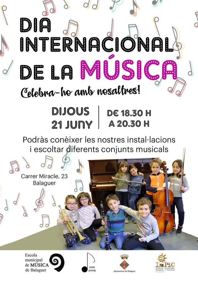 Celebració del Dia Internacional de la música a l'Escola Municipal de Música de Balaguer