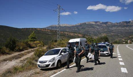 Cinc detinguts i confiscades 3.200 plantes de marihuana a Camarasa